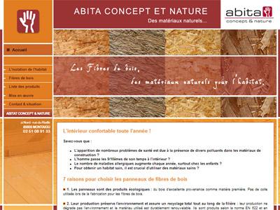 Site web Abita Concept et Nature