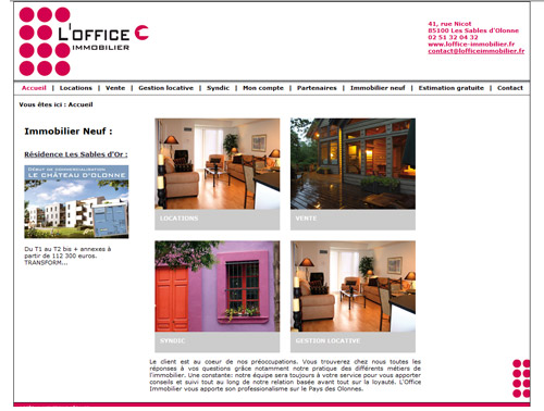Site web L'Office Immobilier