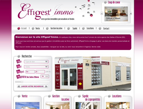Site web Agence Effigest'immo