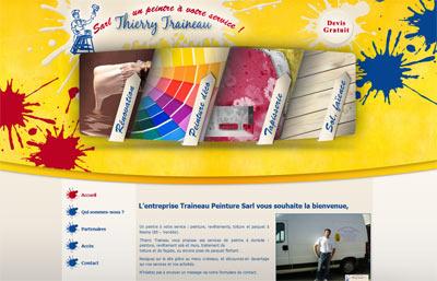 Site web Peintre en bâtiment Traineau