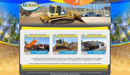 Site web Guillet Travaux Publics