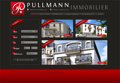 Site web Pullmann Immobilier