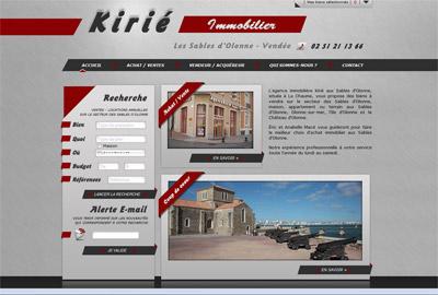 Site web Kirié Immobilier