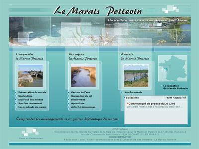 Site web Le Marais Poitevin - Cosymdah