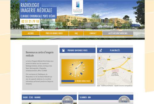 Site web Radiologie Clinique Porte Océane