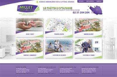 Site web Millet Immobilier