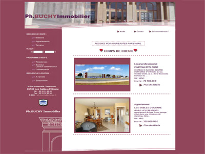 Site web Buchy Immobilier